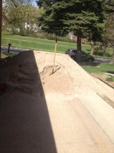 I was the queen of sand mountain! And then we had to haul it all to our backyard.