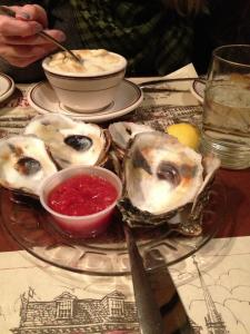 Union Oyster house. Their clams were all sandy and gross, aw shucks!
